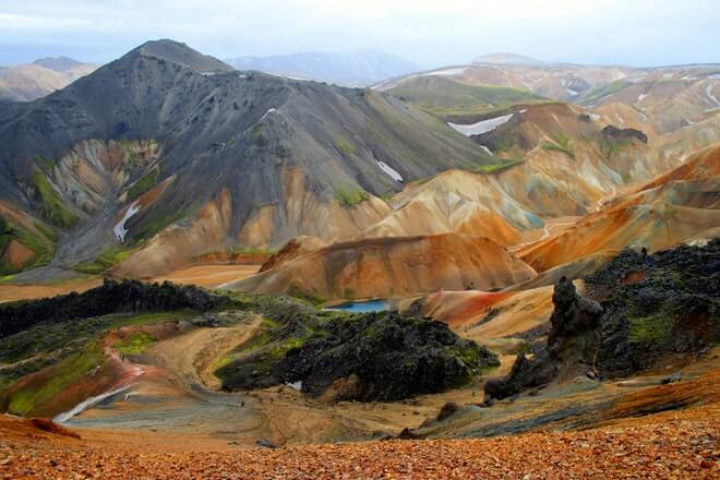 Landmannalaugar -Red mountains - friend in iceland